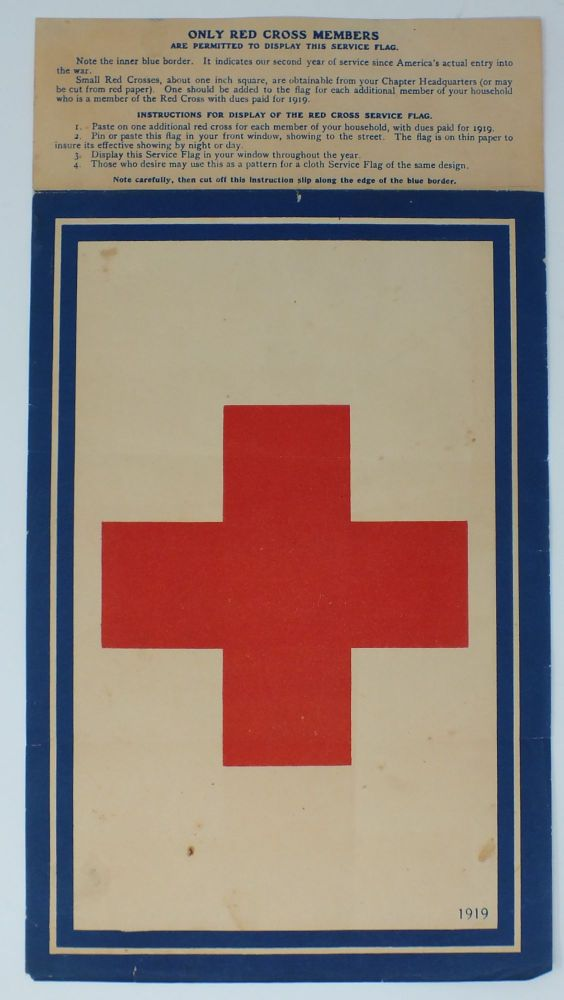 Red Cross Service Flag. AMERICAN RED CROSS.