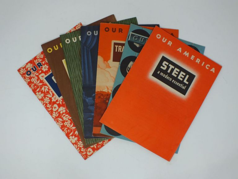 Various (Seven titles) (No author); Cotton; Transportation; Lumber; Steel; Oil; Motion Pictures; Glass;. COCA-COLA COMPANY.