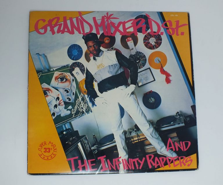 The Grand Mixer Cuts It Up (A Side); The Grand Mixer Cuts It Up, Uncut! (B Side). GRAND MIXER D. ST, Derek Showard.