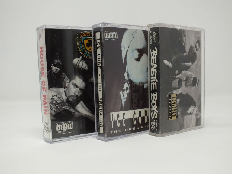 Three Volume Set of Hip-Hop Cassettes: Beastie Boys (Check Your Head), House of Pain (House of Pain), Ice Cube (The Predator); Golden Age.