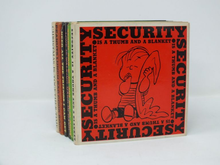Peanuts Set (6 Volumes); (Security is a Thumb and a Blanket, Christmas is Together-Time, I Need All the Friends I Can Get, Love Is Walking Hand in Hand, Home Is On Top Of a Dog House, Peanuts Lunch Bag Cook Book). Charles SCHULZ.