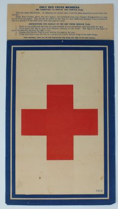 Red Cross Service Flag. AMERICAN RED CROSS