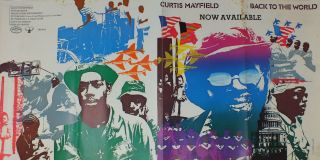Poster; Back To The World. Curtis MAYFIELD