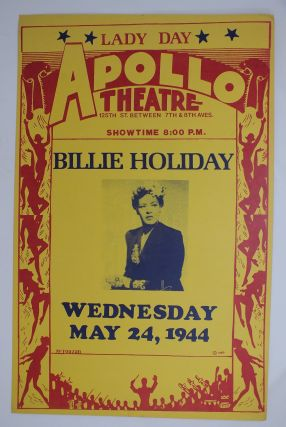 Billie Holiday Concert Poster (Vintage); Apollo Theater. POSTER