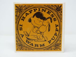 Happiness Is A Warm Puppy. Charles SCHULZ.